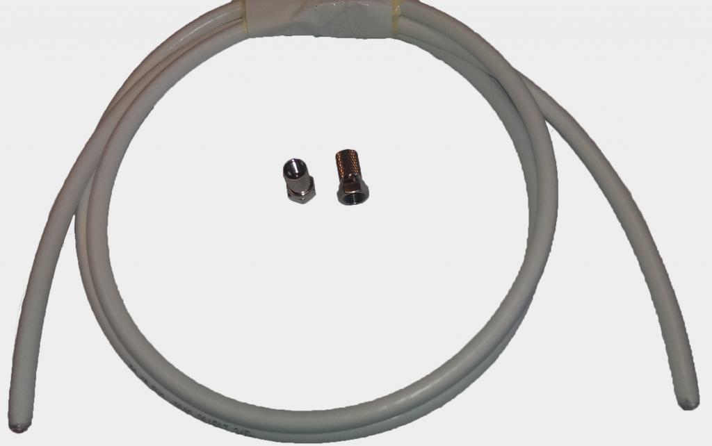 Antennkabel med F-kontakt Proffs 1m