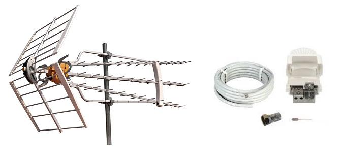 Antennpaket Dalarna Turbo + 20m Kabel