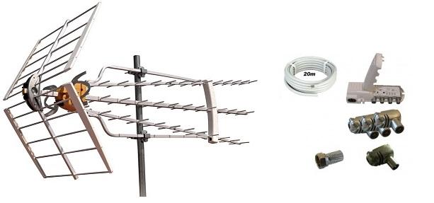 Antennpaket Norrland Super Turbo + 20m Kabel