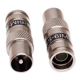 IEC-kontakt hane COMPR. RG-6, PCT-DRS6IM 10-pack