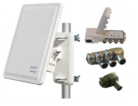Antennpaket 32 + 20 db distributionsförstärkare