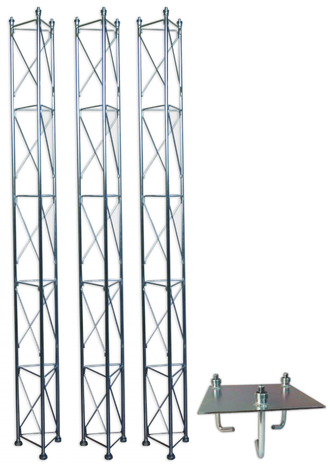 Fackverksmast, paket, belysning, Serie 250 7,5m (gjutning)