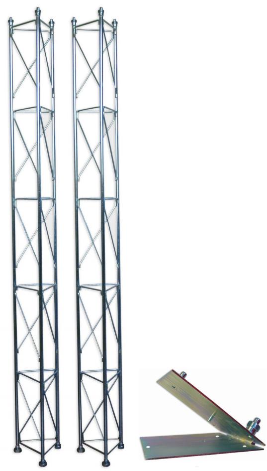 Fackverksmast, paket, belysning, Serie 250 5m (fällbar)