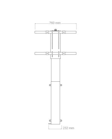 TV- lyft / hiss 91cm