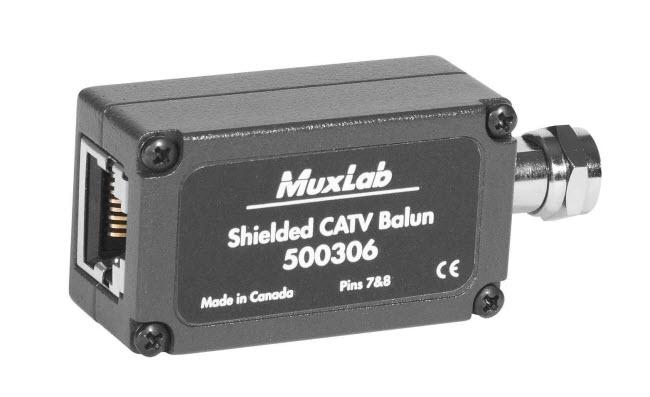 Skärmad CATV balun för RF signaler