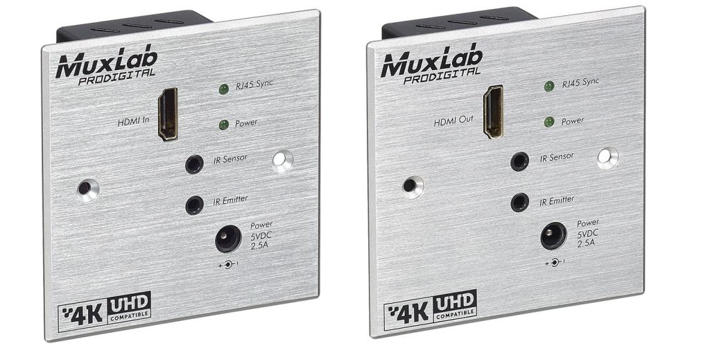 HDMI Wall-Plate Extender Sändare, HDBT Lite, 4K, IR