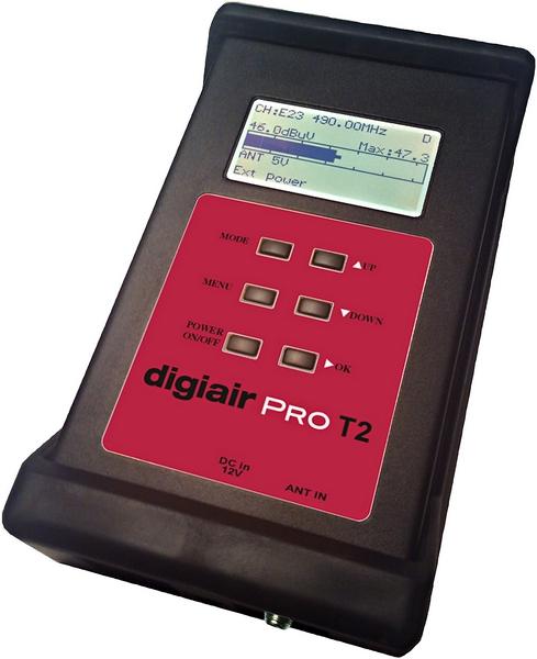 Digiair Pro T2 mätinstrument för digitaltv DVB-C / T / T2