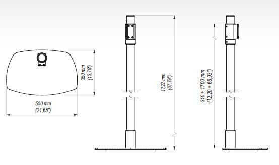 Golvstativ Justerbart 310-1700mm 80kg