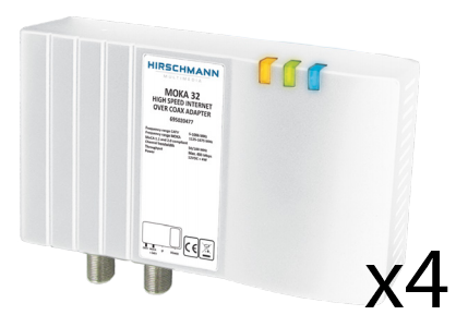 Nätverk / IP över koax / antenn 4 pack