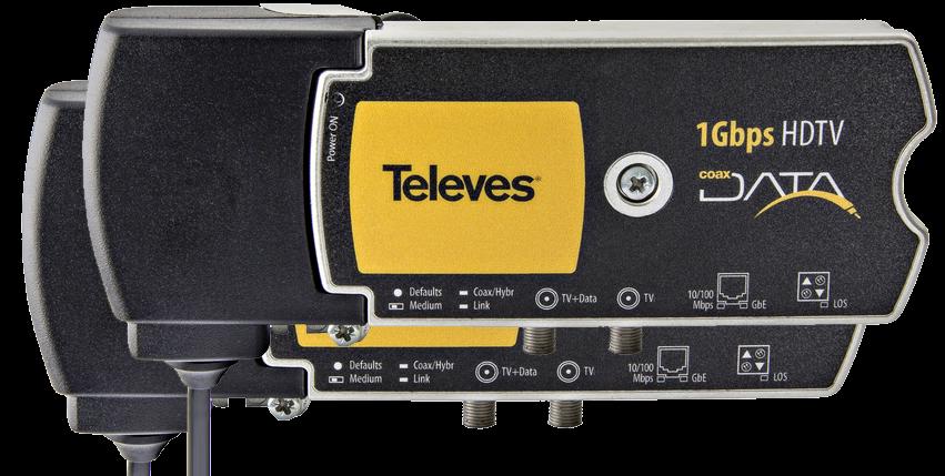 1 Gbps Nätverk över koax eller el-uttag, opto x2