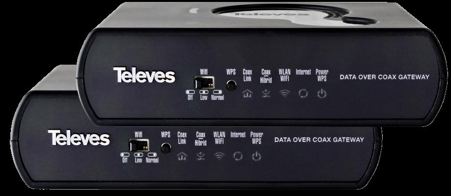 Triple Play Gateway med 1 Gbit och PLC x2