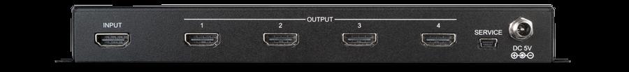 HDMI splitter 1:4 med 4K UHD, HDMI2.0, HDCP2.2