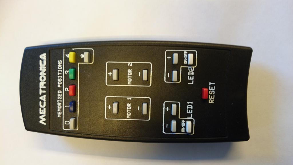 Fjärrkontroll motoriserat takfäste 17 knappar