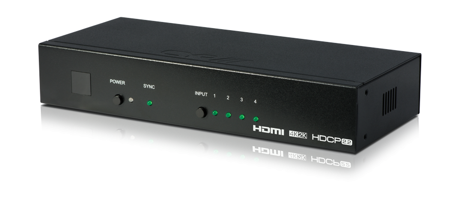 HDMI 4:1 Switch med Auto-Switching, 4K, HDCP 2.2