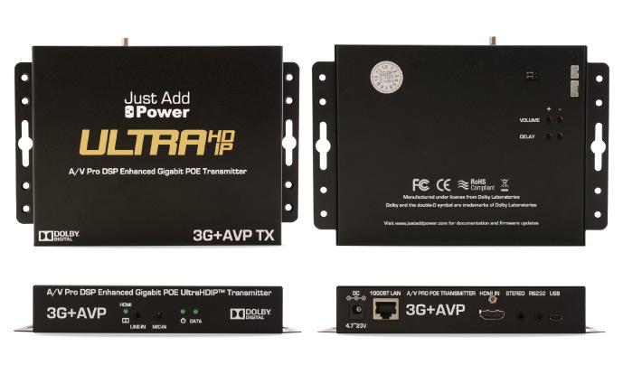 HDMI 4K UHD sändare med USB, RS232, videovägg