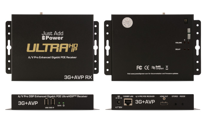 HDMI 4K UHD mottagare med USB, RS232, videovägg