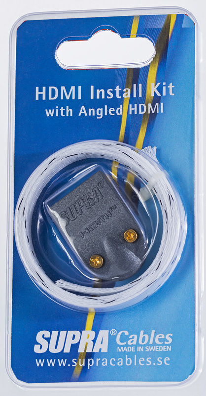 HDMI INSTALL KIT MET-B/NYLON BRAID VINKLAD KONTAKT