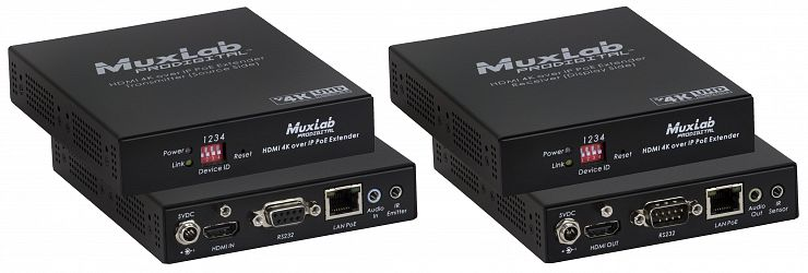 HDMI 4K över IP, PoE, extender Kit