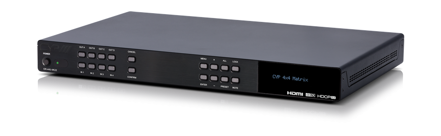 HDMI Matris 4x4, 4K, HDMI/HDCP 2.0/2.2, Powered USB hub