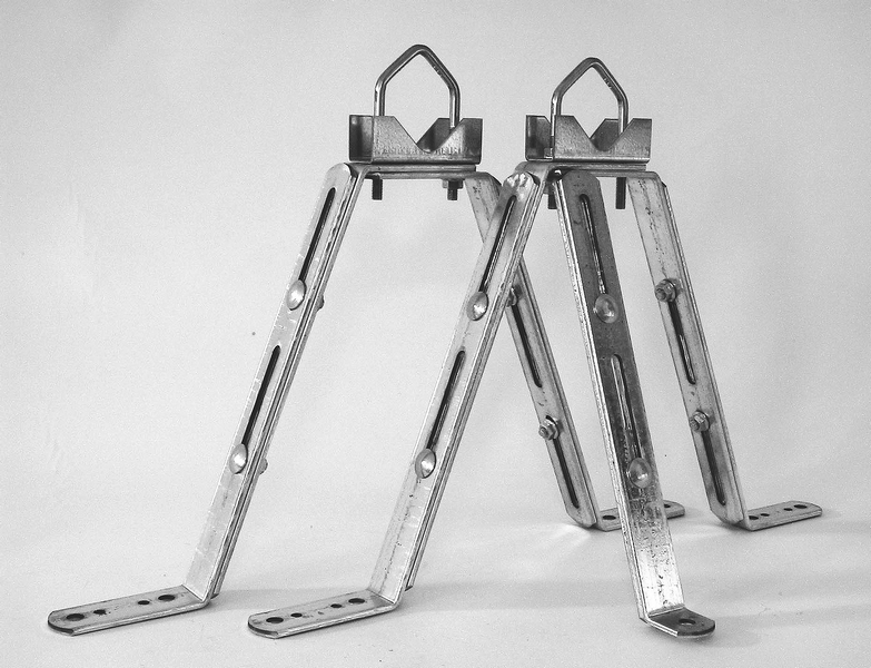 Väggfäste VF-2550P set, 25–45cm från vägg, för rör 30-50mm