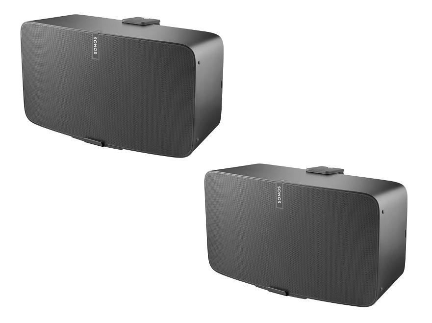 Väggfäste för Sonos Play:5 MKII Svart Horisontell 2 Pack