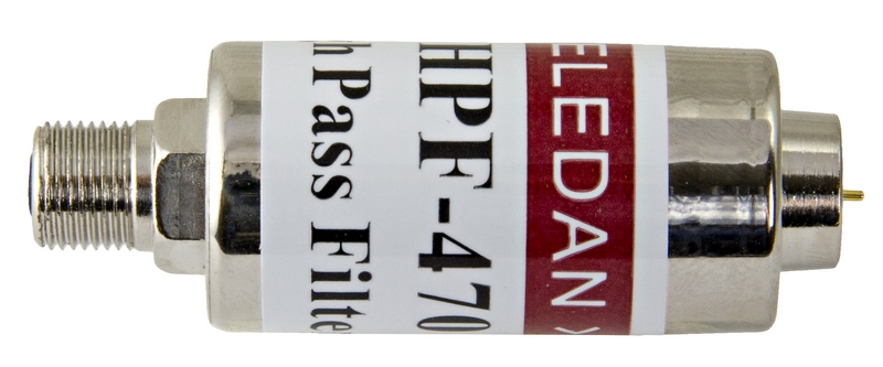 Högpassfilter 470MHz, pass 470-860 Mhz