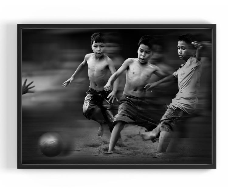 Flying Soccer, 50x70 cm
