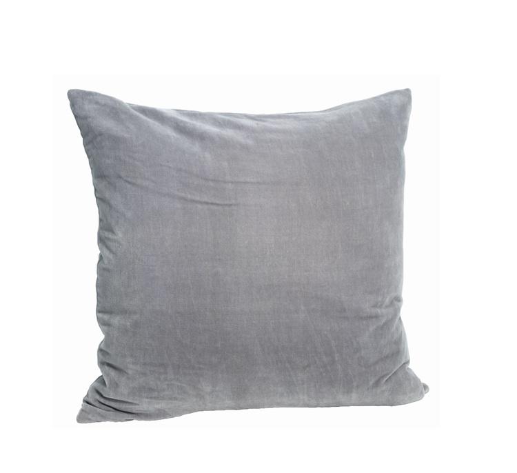 Kuddfodral Sammet, Grey