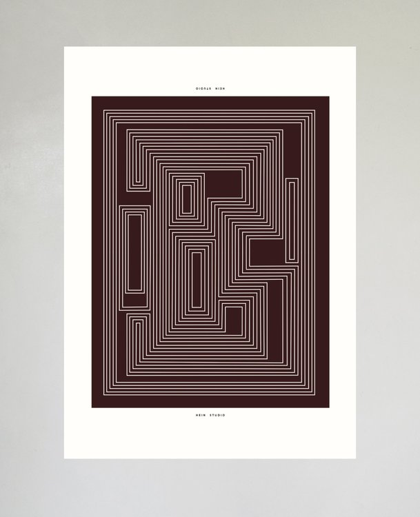 Maze no. 02 - Limited Edition, 42x59,4 cm
