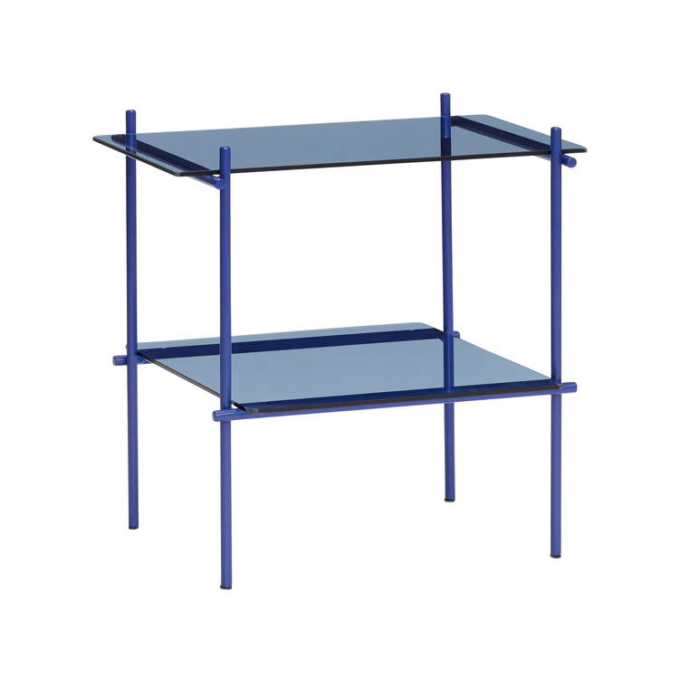 Bord Metall/Glas, Blå