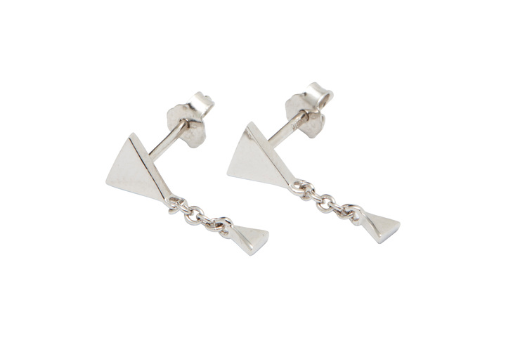 Örhängen Triangle-03-10, Silver