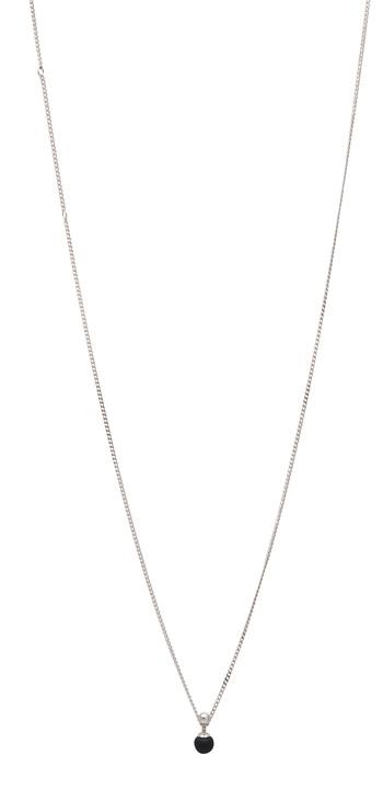 Halsband Sphere-01-02, Silver/BlackMat