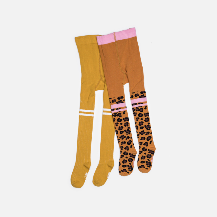Baby tights friends 2-pack - Lion + Raffa Love