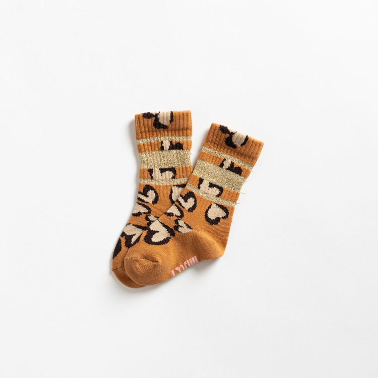 Glittery hearty leo tube sock - baby Lillster