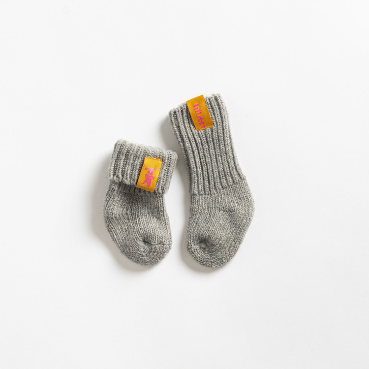 Granite raggis wool sock - baby Lillster