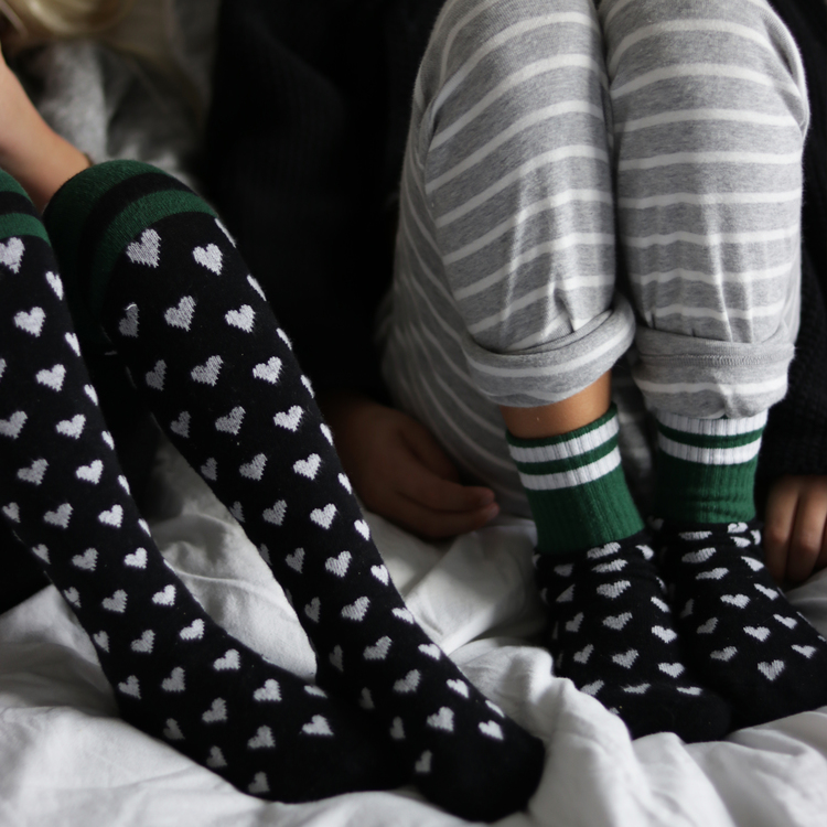 Hearty Green tights - baby Lillster