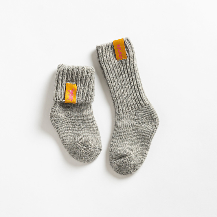 Granite raggis wool sock - kiddo Lillster