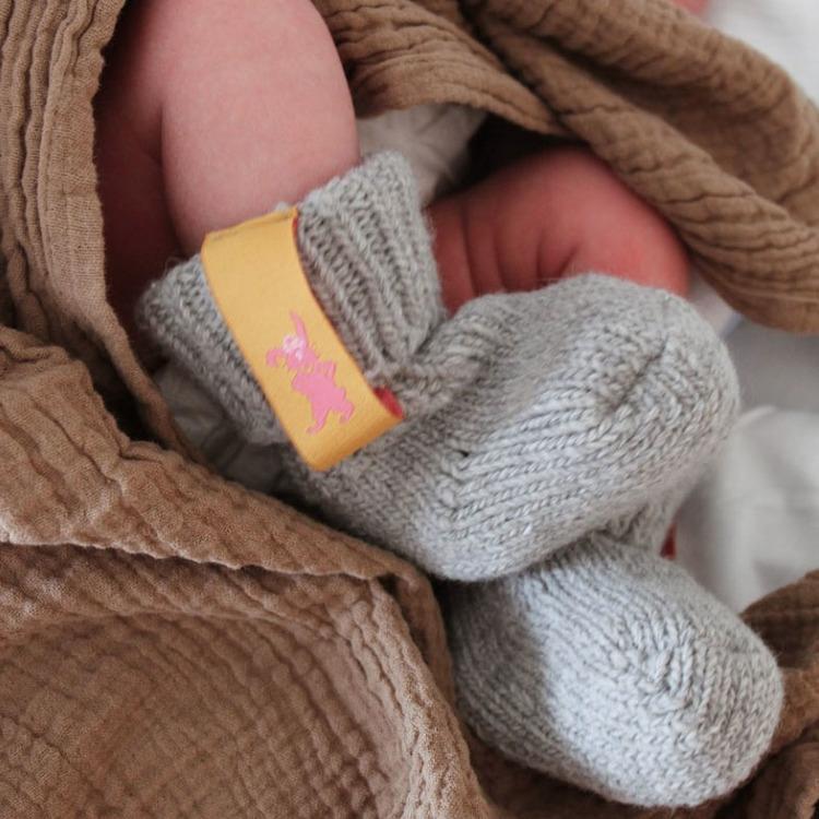 Granite raggis wool sock - baby Lillster