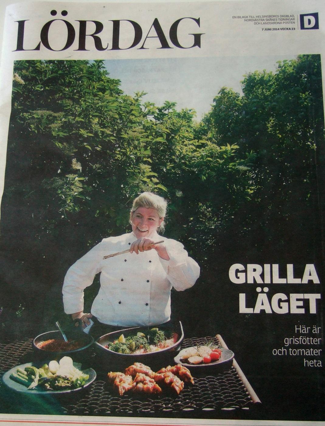grillfat i svart lergods från karott i helsingborgs dagblad