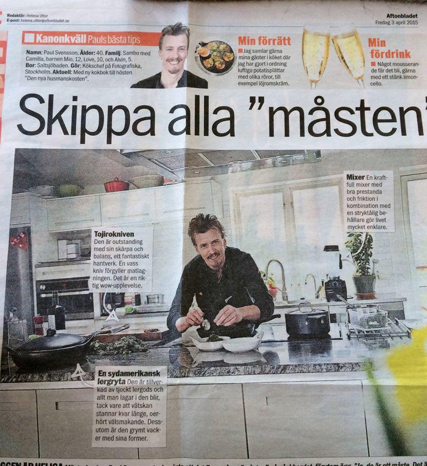 Paul Svensson med lergryta i svart lergods från karott i Aftonbladet