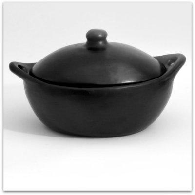 OLIVIA - lergryta med lock, hög oval - 5-6 liter