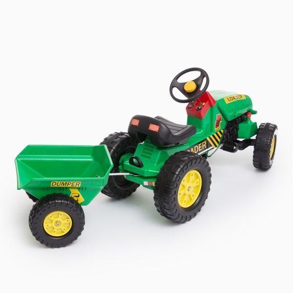Traktor med släp och pedal