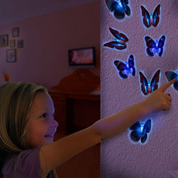 LED-fjäril med sugkopp