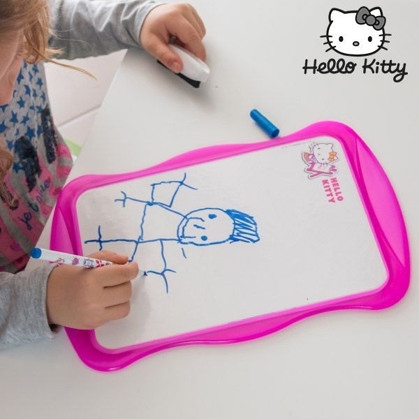 Dubbelsidiga whiteboarden Hello Kitty