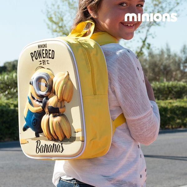 Skolryggsäcken Minion Bananas 3D