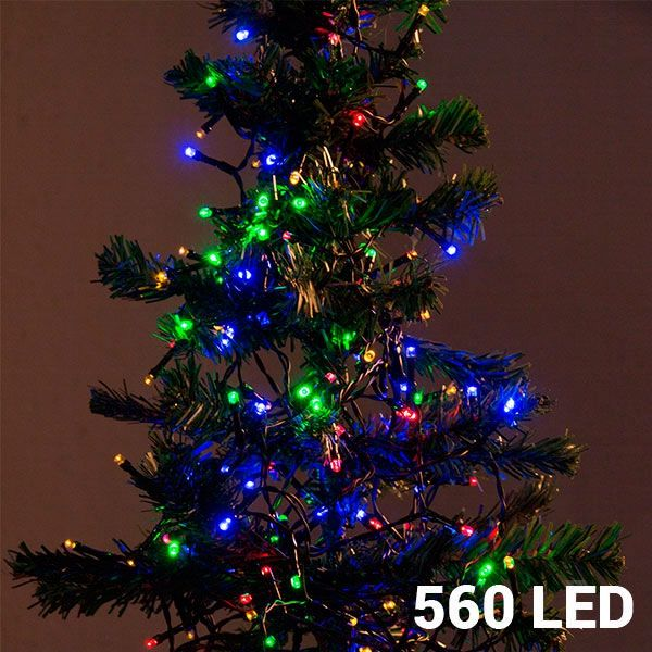 Mångfärgad Julbelysning (560 LED)