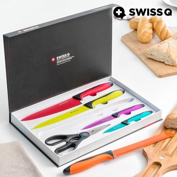 Knivarna i Rostfritt stål Swiss Q Hög Quality (6 delar)