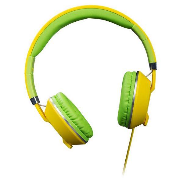 Hörlurar med Mikrofon Hiditec COOL KIDS WHP010006 Gul