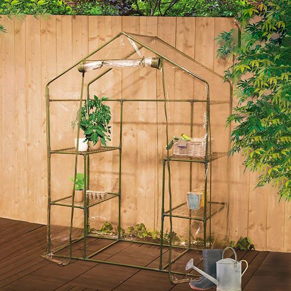 Växthuset med hyllor