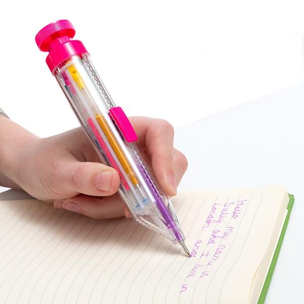 5st Rainbow multi-färgad glitter penna